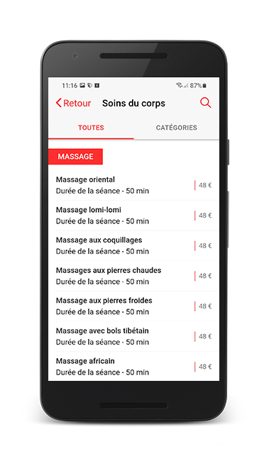 Application mobile Crêperie L'Escale Poissy Android iPhone iOS Assistech