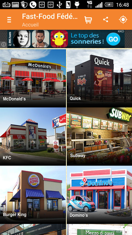 Application mobile Fast Food Federation FFF Android iPhone iOS Assistech