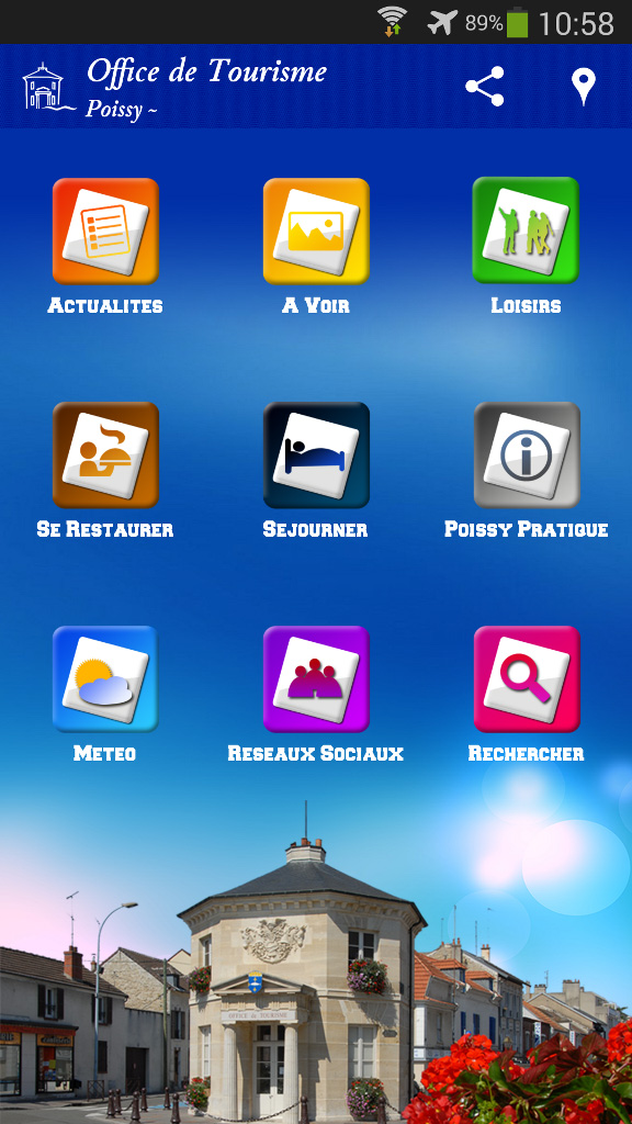 Application mobile Office de tourisme Poissy Android iPhone iOS Assistech